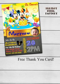 MICKEY MOUSE BIRTHDAY Party Chalk Board by PerfectPixelFactory