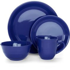 Potential dish set for my British kitchen - TARDIS blue!
