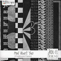 Mad About You: Chalkboard Papers