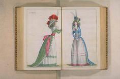 Digital Archive of Rare Materials Rococo Fashion, Georgian Era, Digital Archives, Historical Clothing, Fashion Plates, Clothing Styles, Triangles, Regency, 18th Century