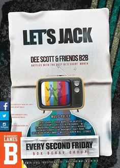 Let's Jack @ Bloomsbury Lanes, Basement of Tavistock Hotel, Bedford Way, London, WC1H 9EU, United Kingdom, On 11th Jul 2014,At 8pm - 3am, Bringing together the cool, retro surroundings of the lanes and the old school meets new school music policy that Dee Scott and Friends bring with them, this is one you'll keep coming back to. URL: Facebook: http://atnd.it/13375-0 Category: Live Music Prices: Advance: £3, Door: £5, Guest List: £3, After 11pm: £5 Artists: DJ Wilor, Dee Scott, General Patten