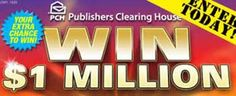 Win a Million Dollars with PCH.com SuperPrize (Giveaway #3148)hi everyone!! yes I ENTER THE PUBLISHERS CLEARING HOUSE SWEEPSTAKES ALL THE TIME! WISH ME LUCK