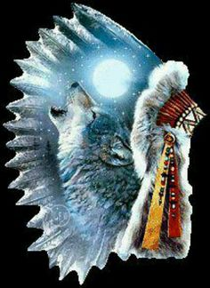 new ideas tattoo wolf indian native americans two wolves Native American Wolf, Native American Paintings, Native American Pictures, Native American Crafts, American Indian Art, American Indians, Indian Wolf, Native Indian, Native Art