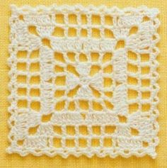 Transcendent Crochet a Solid Granny Square Ideas. Inconceivable Crochet a Solid Granny Square Ideas. Crochet Motifs, Crochet Blocks, Granny Square Crochet Pattern, Afghan Crochet Patterns, Crochet Squares, Filet Crochet, Crochet Doilies, Crochet Home, Crochet Crafts