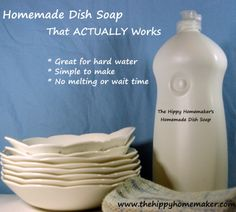 DIY Dish Soap That Actually WORKS - It's Simple, No Melting and No Waiting! Uses Sal Suds instead of Castile Soap!