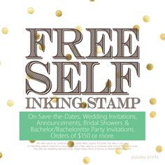 Free Self Inking Stamps with Wedding card purchase! #weddingcards #weddinginvitations #weddingsale #invitations #seasonalsale #freestuff