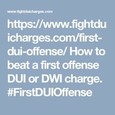 https://www.fightduicharges.com/first-dui-offense/ How to beat a first offense DUI or DWI charge. #FirstDUIOffense
