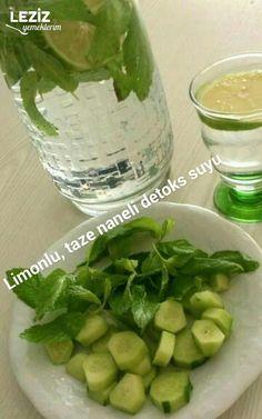 Detoks Suyu Tarifi Pickles, Sprouts, Cucumber, Detox, Pasta, Vegetables, Health, Food, Profile
