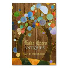 Beautiful Love Trees Antique Shop Business Cards. Make your own business card with this great design. All you need is to add your info to this template. Click the image to try it out!
