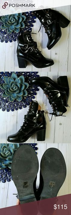 Jeffrey Campbell Benson Leather Cutout Boots EUC Jeffrey Campbell  Benson  Leather  Cutout  Boots  Size 8 EUC Minimal Signs of Wear Jeffrey Campbell Shoes Ankle Boots & Booties