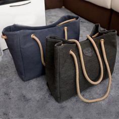 2015 New Canvas Handbag Personality Contracted Large Bag Single Or Double Rope Shoulder Bag For Woman,Drop Shipping ,BJF081
