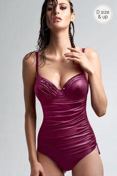 marlies dekkers swimwear | lagertha's reflection plunge balcony bathing suit in sirah | marliesdekkers.com