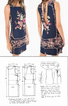 T Shirt Sewing Pattern, Dress Sewing Patterns, Clothing Patterns, Fashion Sewing, Diy Fashion, Ideias Fashion, Sewing Blouses, Sewing Shirts, Make Your Own Clothes