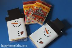 Snowman Popcorn Wrapper - FREE Printable