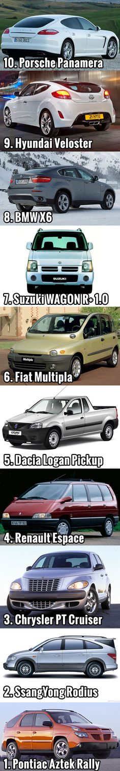 TOP 10 most ugliest cars of all time