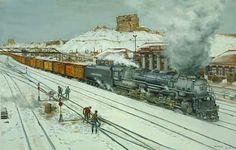 Railroad Print: Green River Challenger by John Bromley
