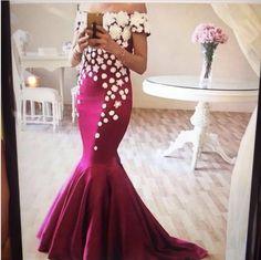 Mermaid Prom Dress,Long Prom Dresses,Charming Prom Dresses,Evening Dress