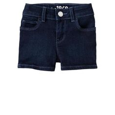 $17, Navy Denim Shorts: Denim Shorts by Gap. Sold by Gap. Click for more info: http://lookastic.com/women/shop_items/38290/redirect