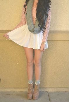 Skirt a little to short... but overall this is really cute!:)
