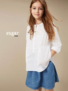 "Alessandra from Sugar Kids for Massimo Dutti ""Back to blue"" collection"