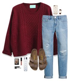 """""""Good things take time."""" by oh-so-rachel ❤ liked on Polyvore featuring WithChic, White House Black Market, Birkenstock, Casetify, Sonia Kashuk, NYX and Marc Jacobs"""
