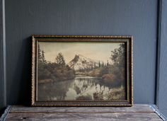antique mountain landscape canada by littlebyrdvintage on Etsy