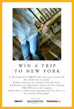 Don't forget to enter our Facebook compeition for your chance to win an amazing trip to New York! All you have to do is head to our Facebook and click on the 'New York Competition' tab at the side of the page and follow the instructions - it's that simple. http://on.fb.me/1fhp6q8 You have until Midday on Monday 31st August to enter. Good Luck! T&C's apply #MyNYStyle https://www.facebook.com/GoldsmithsUK/app_451684954848385