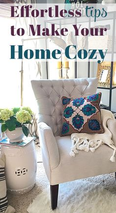 it doesn't have to cost a fortune to transform your home for fall. All you need to do is change out some of your accessories and you're all set!   Click to for 6 ways to add extra coziness to your decor to get your home ready for fall.