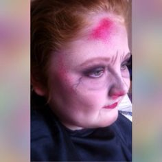 Practice makeup for Halloween - #TheGreatGatsby Detail needs adding, but had a little time to do this. Will use special effects such as blood, cuts and more colour to the face.