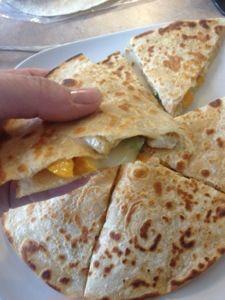 Chicken fajita quesadillas- low calorie! 10 weight watchers points plus.