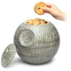 Cookies from a Death Star ... Might make you rethink breaking your diet.   Wish I knew where to buy this.