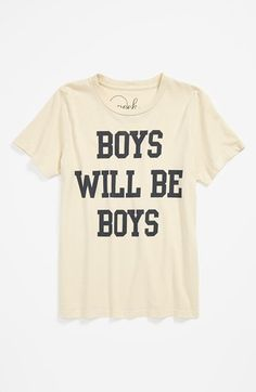 Peek 'Boys Will Be Boys' T-Shirt (Toddler Boys, Little Boys