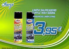 Oferta Verano (28 de agosto al 28 de octubre 2014) - Limpia Tapicerías Turtle Wax. Más información en www.aurgi.com/