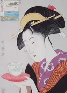 (Japan) by Kitagawa Utamaro. Woodblock print.