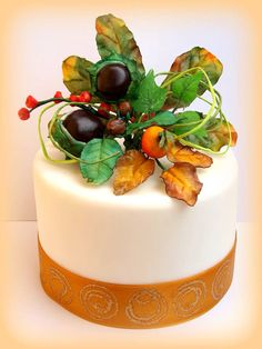 Autumn cake Autumn Cake, My Flower, Flowers, Fall Cakes, Panna Cotta, Ethnic Recipes, Desserts, Christmas, Food