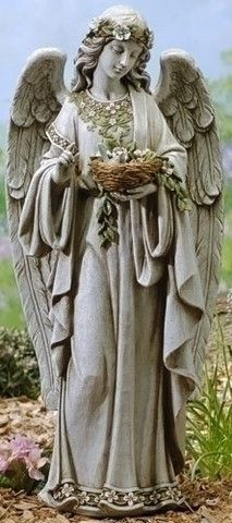 """Ángel de la Guarda con flores Agarrados Birds Nest 24 """"Tall Jardín O Patio"""
