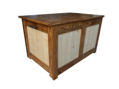 Pine Blanket or toy box, with a different stain - at Jitter Beans in Mineral Wells, Texas