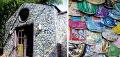 Architect Richard Van Os Keuls from Silver Spring, Maryland used aluminum cans to build part of his house