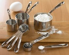 All-Clad Stainless Steel measuring cups and spoons