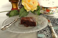 Traditional brownies with walnuts Irresistible...