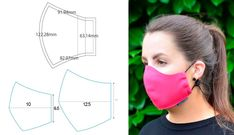 DIY Face Mask // How to Make a Face Mask at Home // Face Mask Sewing Tutorial // Simple Face Mask - New ideas Sewing Patterns Free, Free Sewing, Free Pattern, Sewing Hacks, Sewing Tutorials, Sewing Crafts, Sewing Projects, Diy Crafts, Easy Face Masks