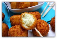 Croquetas de puré de patata y bacalao (sin huevo) ~ Recetas con Mimo