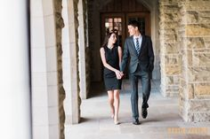 Laura and Steven's Engagement Session in Downtown Fort Wayne // Photography by Dustin and Corynn Photography // Fort Wayne Photographers