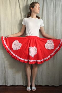 8e14f6fe86edb Only for Square Dancing I think! $38 Square Dance, Fabric Hearts, Full  Circle