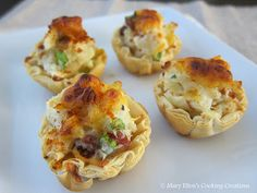 Mary Ellen's Cooking Creations: Recipe Swap: Loaded Baked Potato Bites
