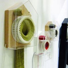 This clock knits a scarf over the course of a year, with one stitch for every 30 seconds.