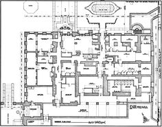 Kykuit, Cellar Floor Plan, known also as the John D. Rockefeller Estate, is a 40-room National Trust house in Westchester County, New York, built by order of oil tycoon, capitalist and Rockefeller family patriarch John D. Rockefeller.