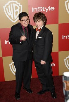 """""""Modern Family"""" actors Rico Rodriguez and Nolan Gould."""