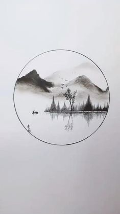 Beautiful Pencil Drawings, Landscape Pencil Drawings, Art Drawings Sketches Simple, Pencil Art Drawings, Realistic Drawings, Unique Drawings, Pencil Sketching, Dragon Drawings, 3d Art Drawing