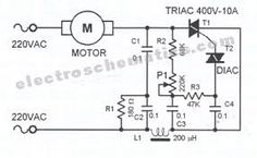 AC speed controller circuit controls the speed of small motors. The speed… AC speed controller circuit controls the speed of small motors. The speed… Electronics Mini Projects, Electronics Basics, Electronic Circuit Projects, Electronics Components, Electronic Engineering, Electronics Storage, Electronics Gadgets, Ac Circuit, Circuit Diagram